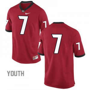 Georgia Bulldogs #7 (No Name) College Jersey - Red - Youth