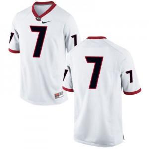 Georgia Bulldogs #7 (No Name) College Jersey - White