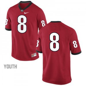 Georgia Bulldogs #8 (No Name) College Jersey - Red - Youth