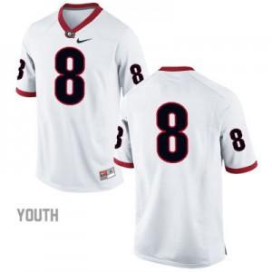 Georgia Bulldogs #8 (No Name) College Jersey - White - Youth