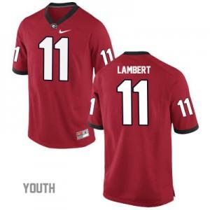 Georgia Bulldogs Greyson Lambert #11 College Jersey - Red - Youth