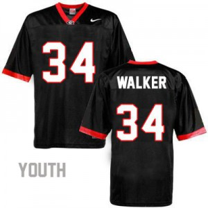Georgia Bulldogs Herschel Walker #34 College Jersey - Black - Youth