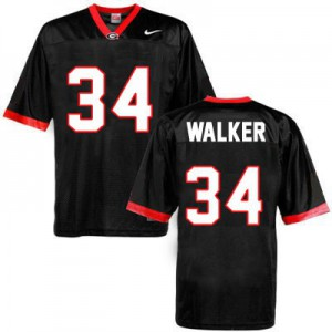 Georgia Bulldogs Herschel Walker #34 College Jersey - Black