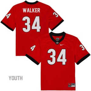 Georgia Bulldogs Herschel Walker #34 College Jersey - Red - Youth