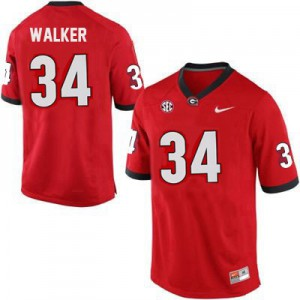Georgia Bulldogs Herschel Walker #34 College Jersey - Red