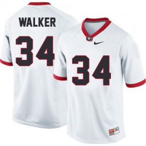 Georgia Bulldogs Herschel Walker #34 College Jersey - White