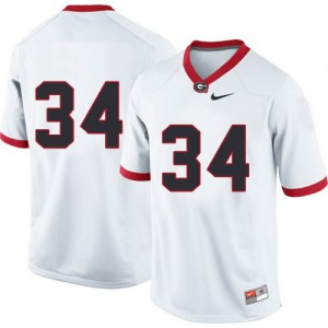 Georgia Bulldogs Herschel Walker #34 (No Name) College Jersey - White