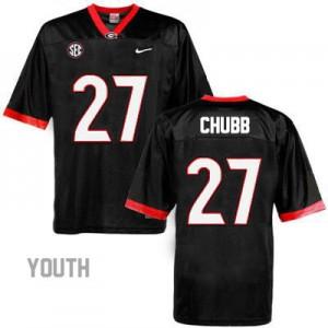 Georgia Bulldogs Nick Chubb #27 College Jersey - Black - Youth