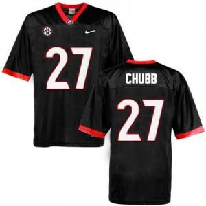 Georgia Bulldogs Nick Chubb #27 College Jersey - Black