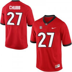 Georgia Bulldogs Nick Chubb #27 College Jersey - Red