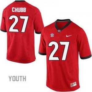 Georgia Bulldogs Nick Chubb #27 College Jersey - Red - Youth