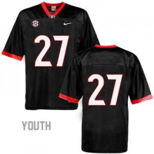 Georgia Bulldogs Nick Chubb #27 (No Name) College Jersey - Black - Youth