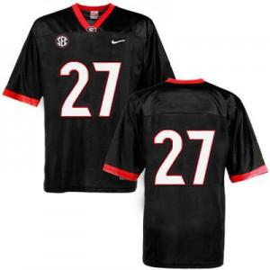 Georgia Bulldogs Nick Chubb #27 (No Name) College Jersey - Black