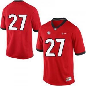 Georgia Bulldogs Nick Chubb #27 (No Name) College Jersey - Red