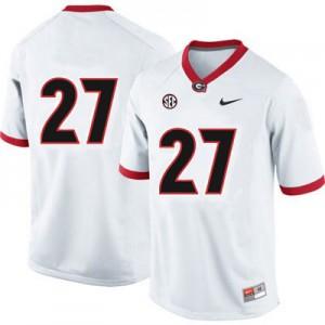 Georgia Bulldogs Nick Chubb #27 (No Name) College Jersey - White