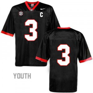 Georgia Bulldogs Todd Gurley #3 (No Name) College Jersey - Black - Youth