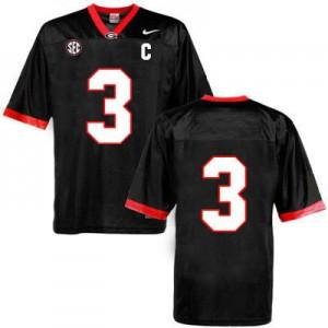 Georgia Bulldogs Todd Gurley #3 (No Name) College Jersey - Black