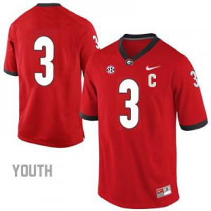Georgia Bulldogs Todd Gurley #3 (No Name) College Jersey - Red - Youth