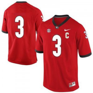 Georgia Bulldogs Todd Gurley #3 (No Name) College Jersey - Red