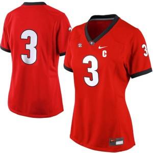Georgia Bulldogs Todd Gurley #3 (No Name) Women's Jersey - Red
